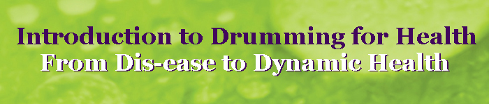 banner - drumming for health