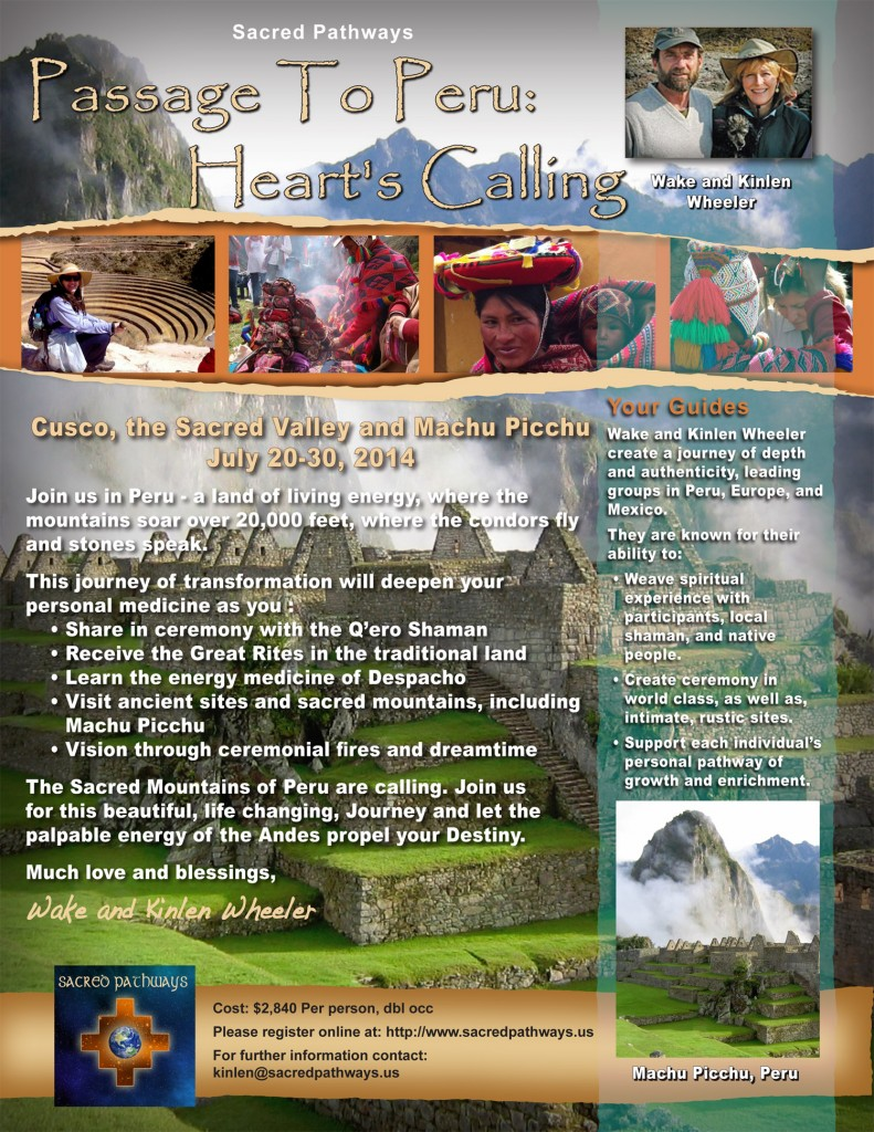 flyer for 2014 trip to Peru